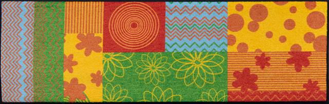 Easy Clean Flower Field Doormat, Large