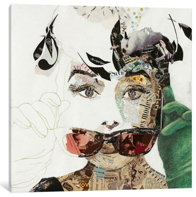 """Audrey"" Print by Ines Kouidis, 37""x37""x1.5"""