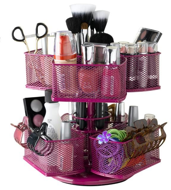 Cosmetic Organizing Carousel - Rose