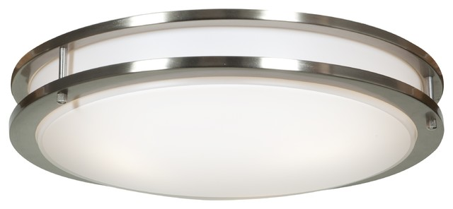 Solero 3-Light Flush Mounts, Brushed Steel.