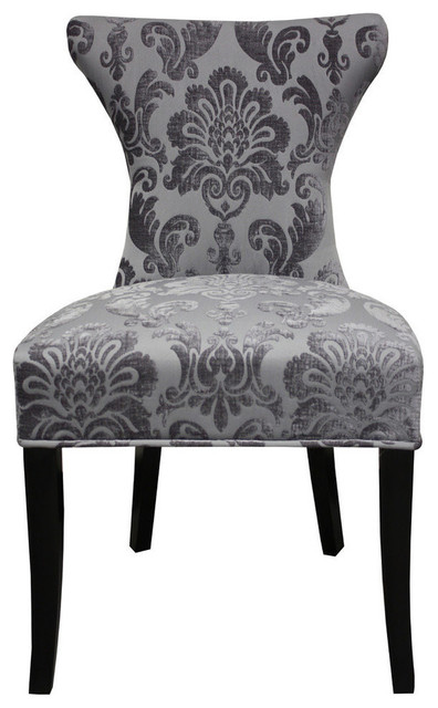 2 Pack Cosmo Fan Damask Contemporary Armchairs And