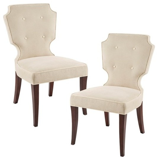 Camille Dining Chair, Set Of 2, Cream.