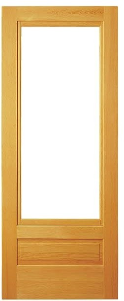 Pine framed combination screen door for Door and screen door combo
