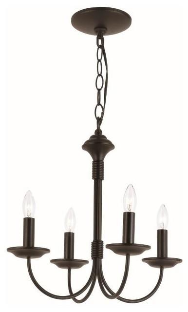 "Trans Globe 9014 BK Candle 14.5"" Chandelier"
