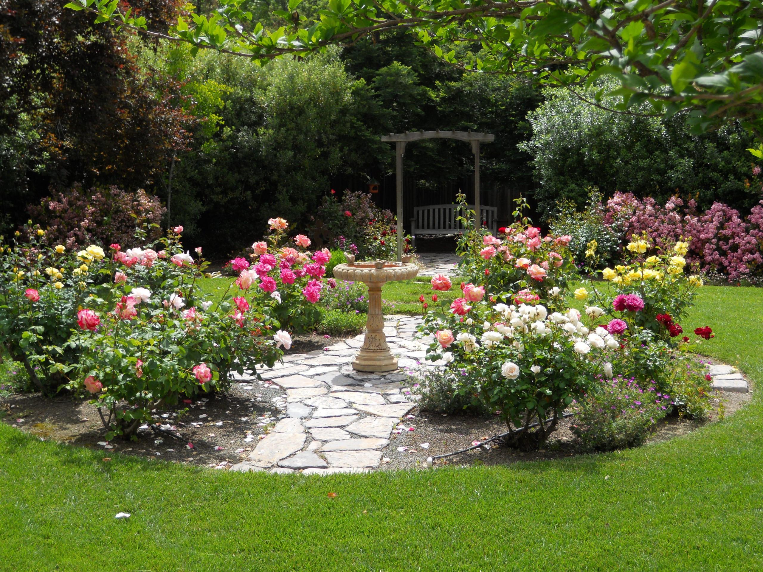 Rose Gardens with Sun dial