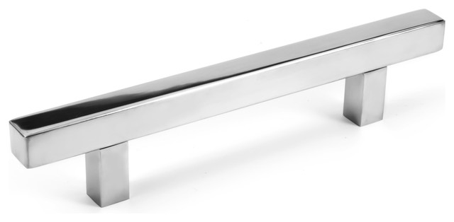 Celeste Pi Square Bar Pull Cabinet Handle Polished Chrome Stainless