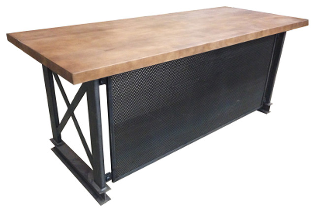 IRON AGE OFFICE - The Industrial Carruca Office Desk, L Shape - View in Your Room! | Houzz