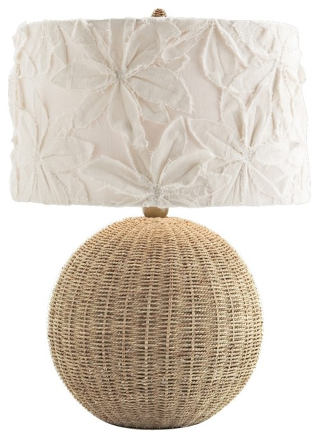 Arteriors home country cottage flamingo rattan table lamp country cottage flamingo rattan table lamp modern table lamps aloadofball Images