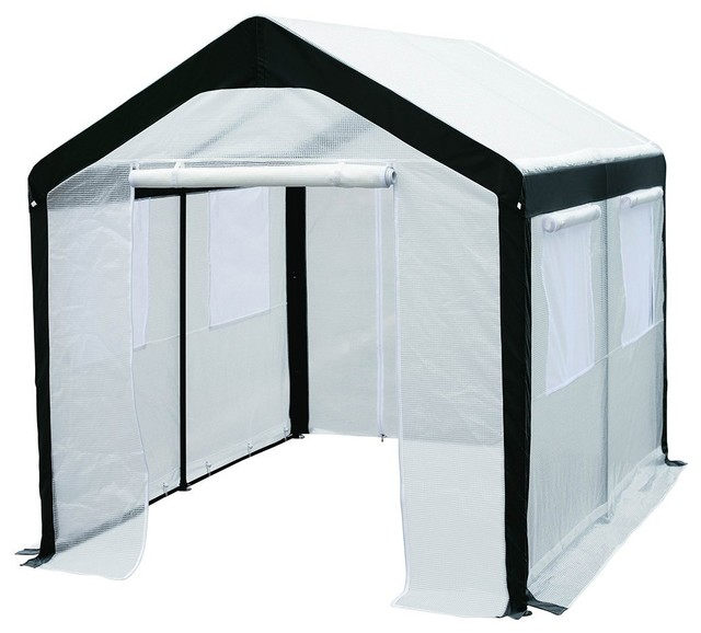 Abba Patio 6&x27;x8&x27; Large Walk-In, Fully Enclosed, Greenhouse With Windows, White.