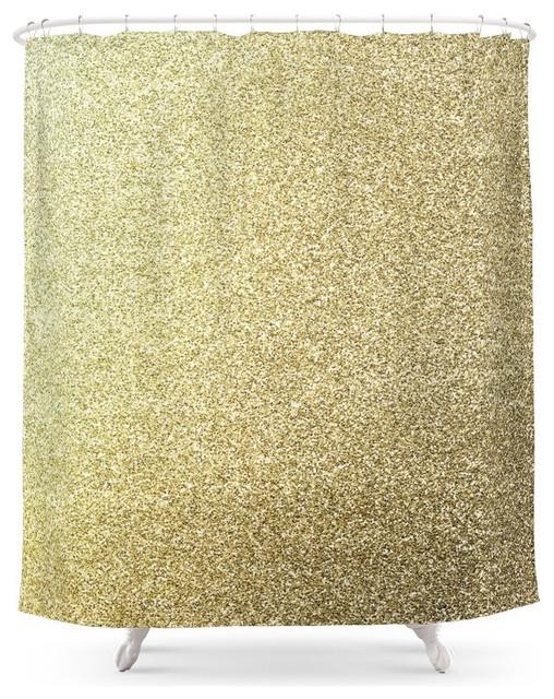 Society6 Gold Glitter Shower Curtain contemporary-shower-curtains - Society6 Gold Glitter Shower Curtain - Contemporary - Shower