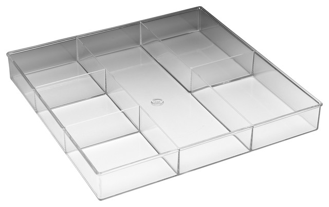 Whitmor 6 Section Clear Drawer Organizer