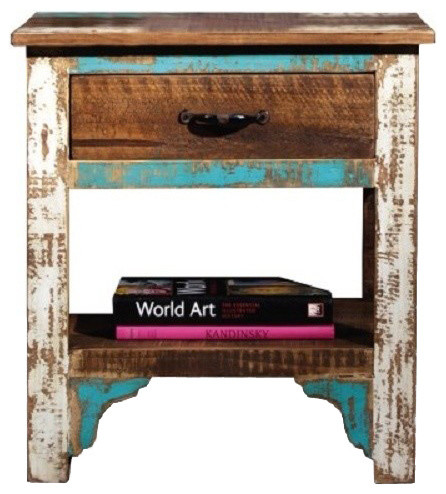 Rustic Distressed Reclaimed Wood Nightstand