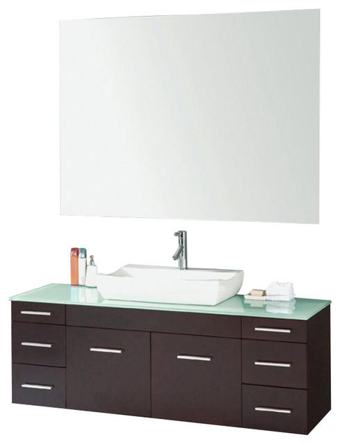 56 Inch Single Sink Bathroom Vanity Contemporary Bathroom Vanities And Sink