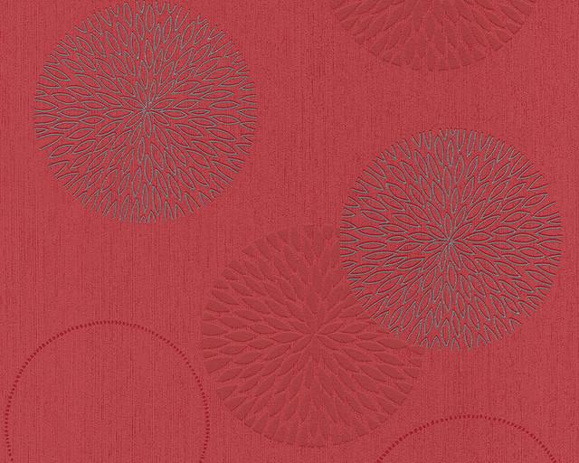 Modern Non-Woven Wallpaper For Accent Wall - 937923 Floral Burst Wallpaper, Roll.