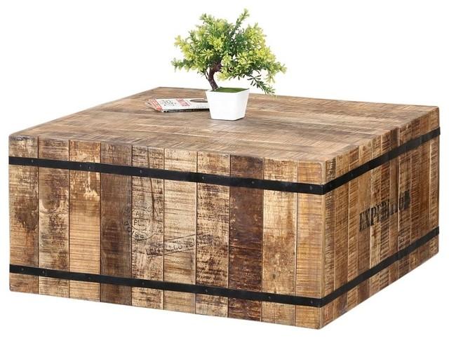 Coffee Table Made Of Rustic Mango Wood