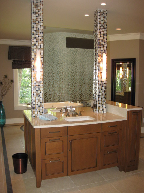 double sided bathroom mirror sided vanity with floating mirror contemporary 18183