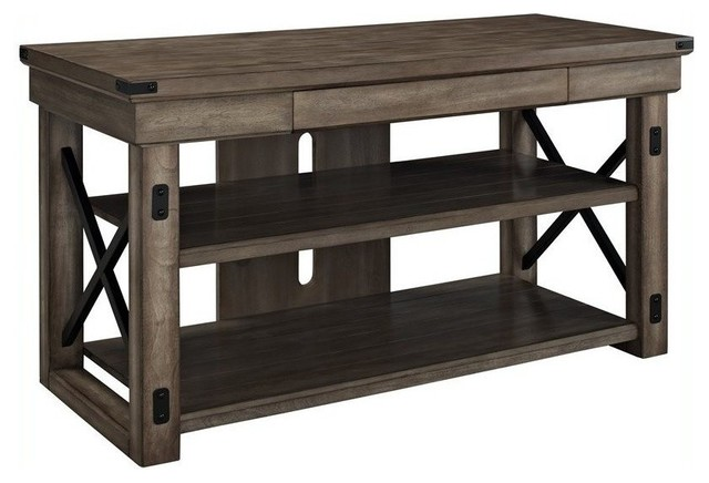 Altra Furniture Wildwood Rustic TV Console With Metal Frame rustic -entertainment-centers-and