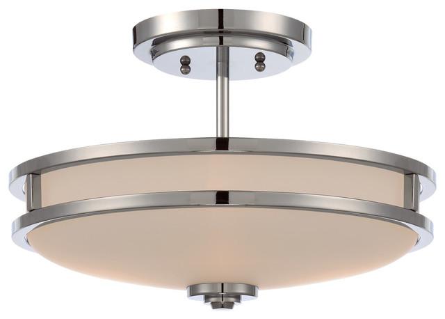 Lagan Chrome Flush-Mount Ceiling Light.