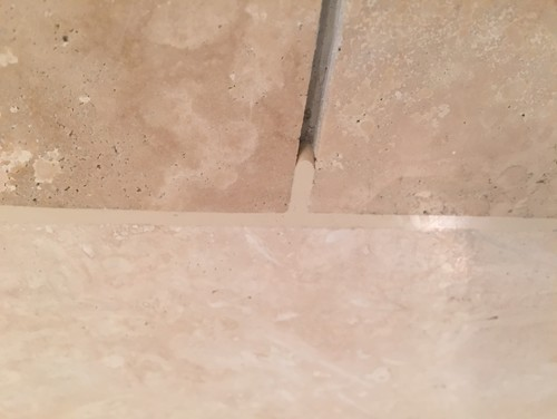 Polished Travertine On Bathroom Floor Is Slippery