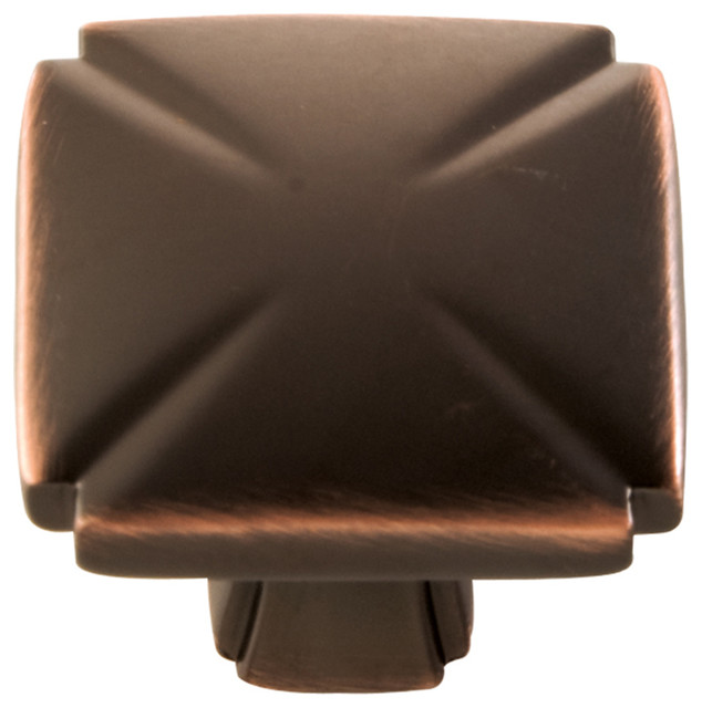 """Hickory Hardware 1.188"""" Bridges Oil-Rubbed Bronze Cabinet Knob - Transitional - Cabinet And ..."""