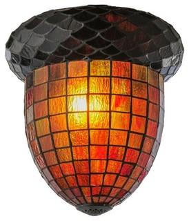 "Meyda Tiffany Acorn Shade, 12""W - Rustic - Lamp Shades - by Hansen Wholesale"