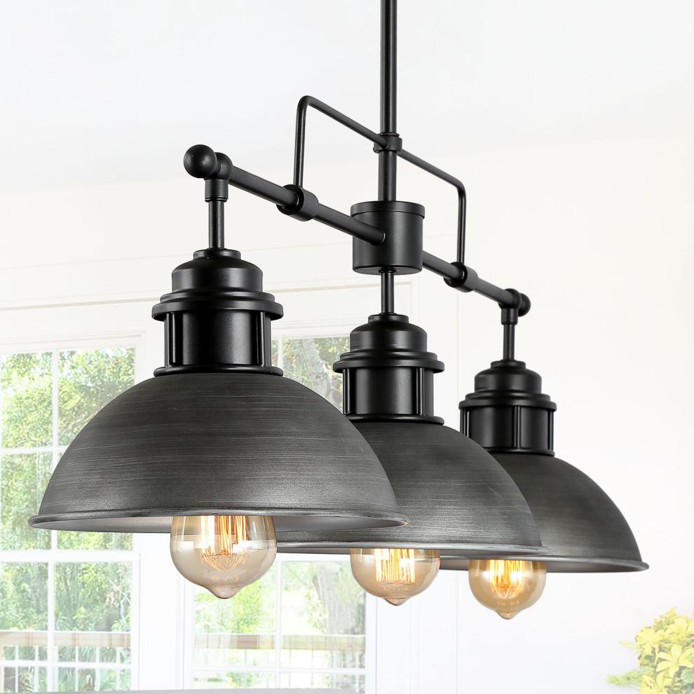 3 Light Linear Chandeliers Kitchen Island Pendant Lighting Industrial Kitchen Island Lighting By Lnclighting Llc