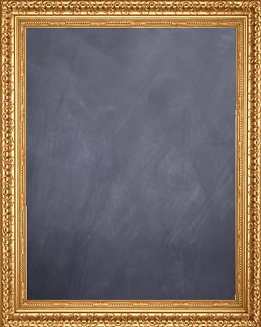 framed chalkboard 24 x 36 with antique gold finish frame traditional bulletin