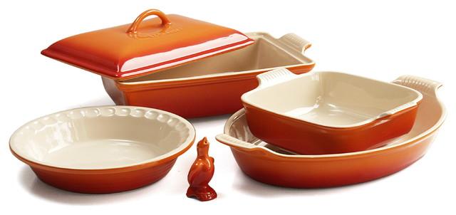 Le Creuset 6 Piece Flame Stoneware Heritage Bakeware Set