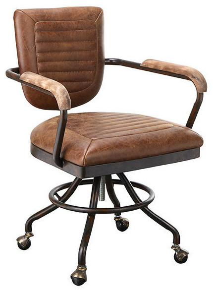 Foster Desk Chair Brown Industrial Office Chairs by South