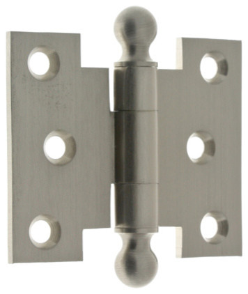 """... Brass 2-1/2""""x3"""" Parliament Hinges With Ball Finials, Pair - Hinges"""