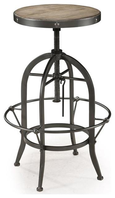 Walton Wood Metal Swivel Stool Industrial Bar Stools  : industrial bar stools and counter stools from www.houzz.com size 372 x 640 jpeg 44kB