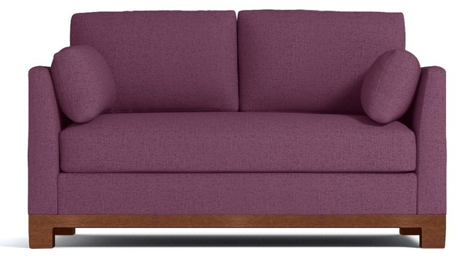Avalon Apartment Size Sleeper Sofa, Innerspring Mattress, Amethyst