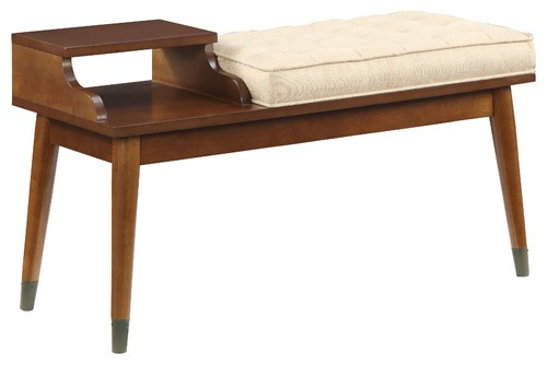 ACME Baptis Bench, Walnut and Fabric
