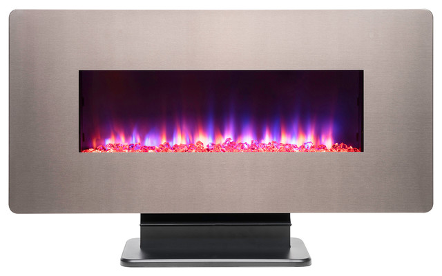 "36"" Freestanding Electric Fireplace."