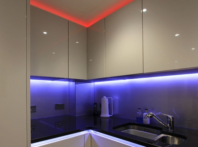 Night Lit Kitchen Modern Kitchen Other By Parker