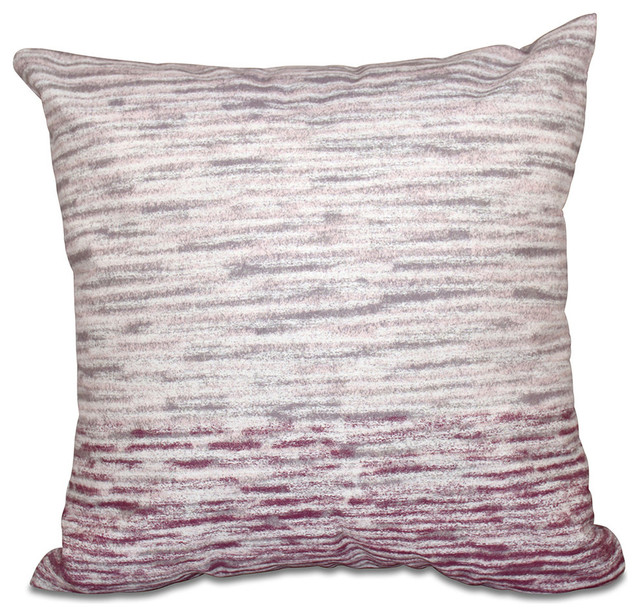 Beach Style Outdoor Cushions : Ocean View, Geometric Print Pillow, Purple, 20
