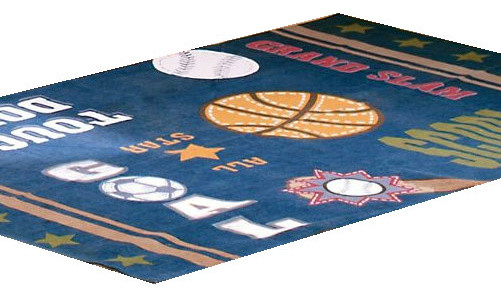 All Sports Basketball Soccer Large Area Rug Floor Accent