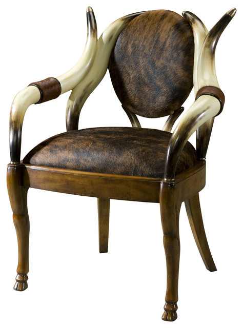 Great Theodore Alexander Stagworks The Longhorn Dining Chair