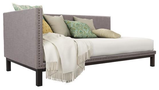 full size daybed metal frame adult room furniture pewter bed