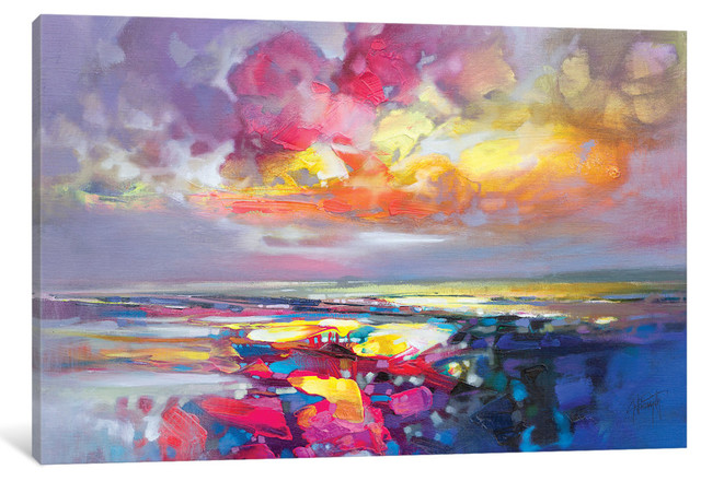 Primary Shore By Scott Naismith Canvas Print Contemporary Prints And Posters By Icanvas
