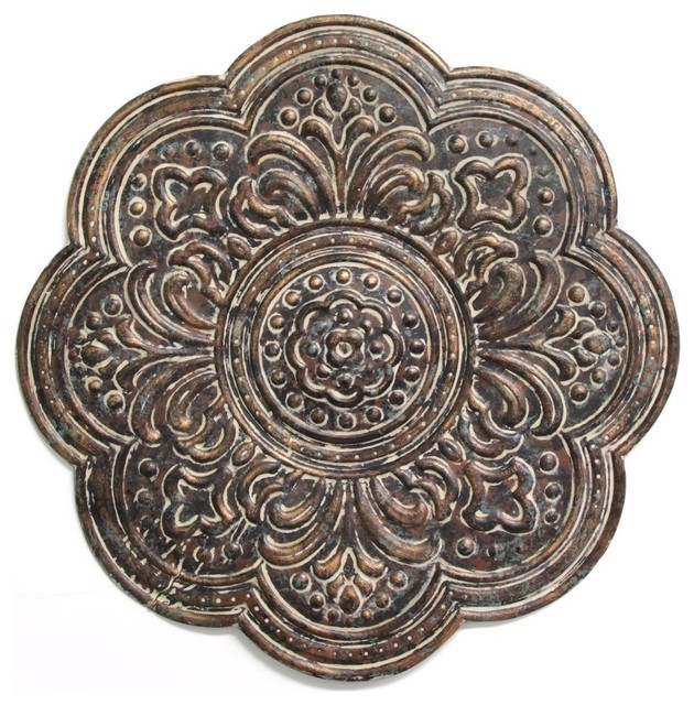 Rustic Bronze Medallion Wall Decor.