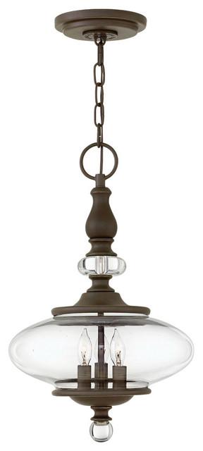 Hinkley Lighting Wexley Oil Rubbed Bronze Pendant.
