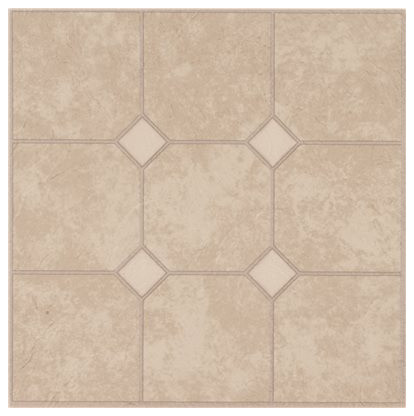 Armstrong Units Self Adhesive Floor Tile Sand Traditional Vinyl