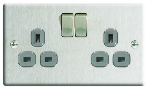 13a switched socket 2g modern light switches plug sockets by wickes - Modern switches and sockets ...