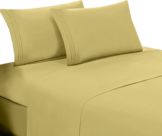 Egyptian Cotton Feel Cool Softest 4 Piece Sheet Set Deep Pockets Contemporary And Pillowcase Sets By Bluff City Bedding