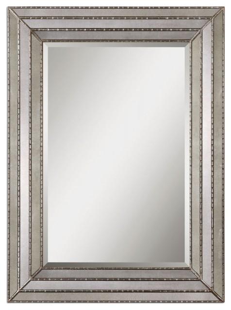 Uttermost Seymour Antique Silver Mirror.