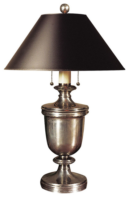 E f chapman classical decorative urn form table lamp antique nickel medium traditional table