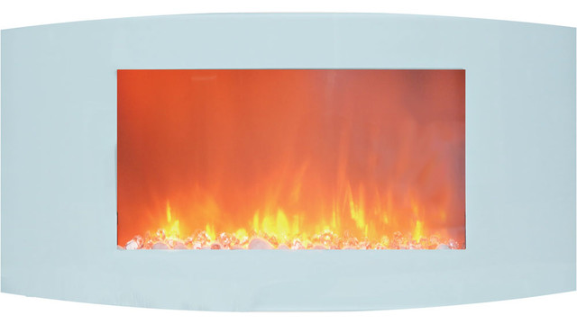 Ignis Maximum, Wall Mounted Ethanol Fireplace, Wmf-012, With Glass Barrier