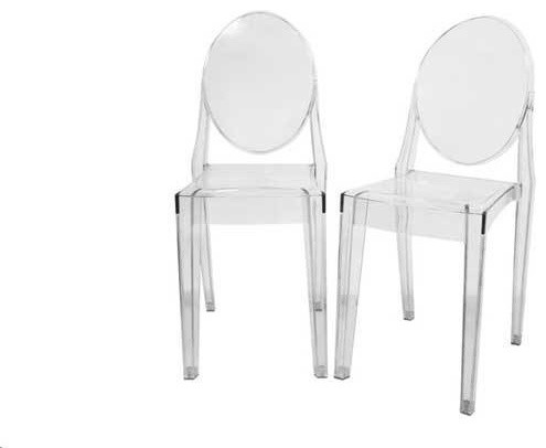 Clear Ghost Side Chair, Set Of 2.