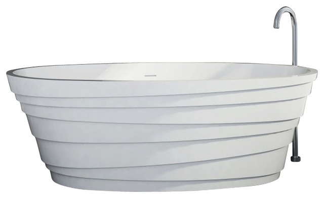 ADM White Stand Alone Solid Surface Stone Resin Bathtub ...